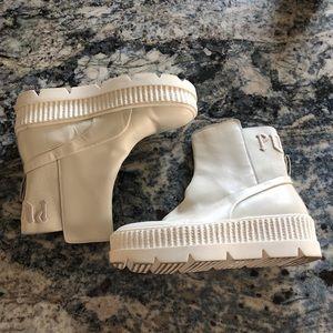Puma by Rihanna white boots
